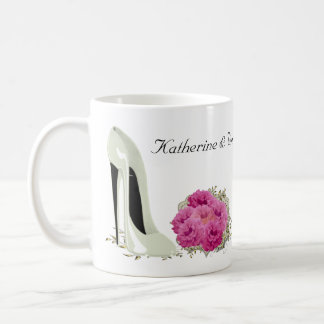 Bouquet Roses and Wedding Stiletto Gifts Coffee Mug
