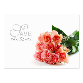 Bouquet Save the Date Business Card Template