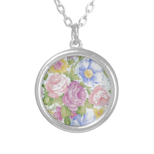 Bouquet Silver Plated Necklace