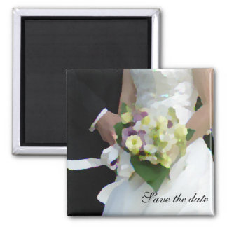 bouquet watercolor, Save the date Refrigerator Magnet