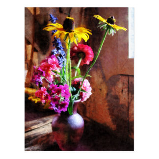 Bouquet With Black-Eyed Susans and Phlox Postcard