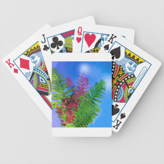 Bouquet with ferns bicycle playing cards