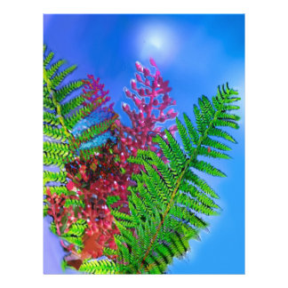 Bouquet with ferns letterhead
