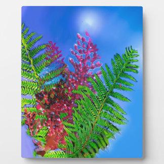 Bouquet with ferns plaque