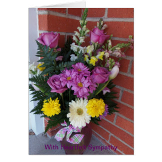 Bouquets of Flowers, Heartfelt Sympathy, Her Card