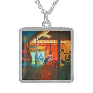 Bourbon Cafe Sterling Silver Necklace