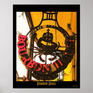 Bourbon House Seafood Poster