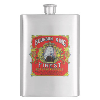 Bourbon King Finest Roasted Coffees Hip Flask