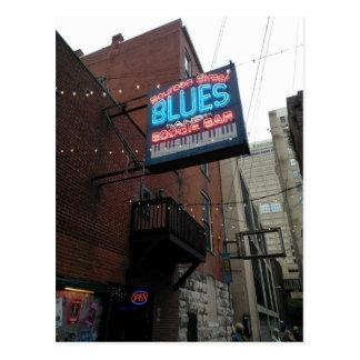 Bourbon Street Blues Boogie Bar Nashville TN Postcard