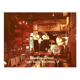 Bourbon Street Jazz New Orleans, Postcard
