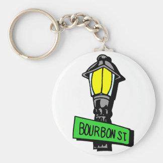 Bourbon Street Mardi Gras Keychain