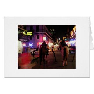 Bourbon Street mounted police Card