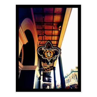Bourbon Street New Orleans Louisiana Sign Postcard