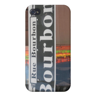 BOURBON STREET SIGN iPhone 4/4S COVERS