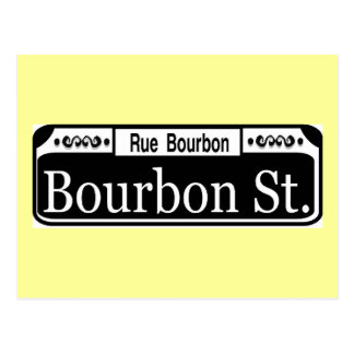 Bourbon Street Sign Postcard