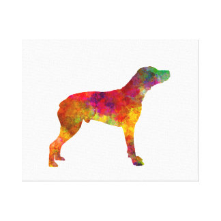 Bourbonnais Pointer in watercolor Canvas Print