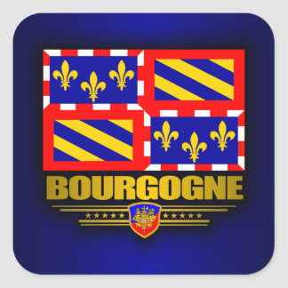 Bourgogne Square Sticker