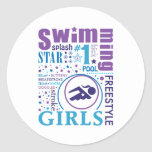 Bourne Swimming Stickers