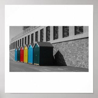 Bournemouth Beach Huts Poster