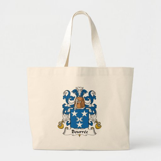 Bourree Family Crest Canvas Bags