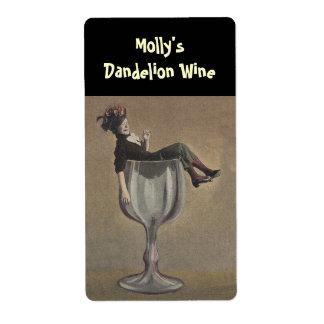 Bouteille marquant le verre drôle de Madame vin Étiquettes D'expédition