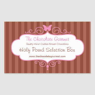 Boutique candy shop pink food sale label sticker