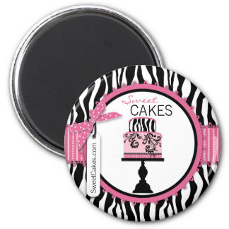 Boutique Chic Cake Bakery 2 Inch Round Magnet