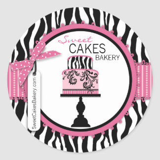 Boutique Chic Cake Business Sticker