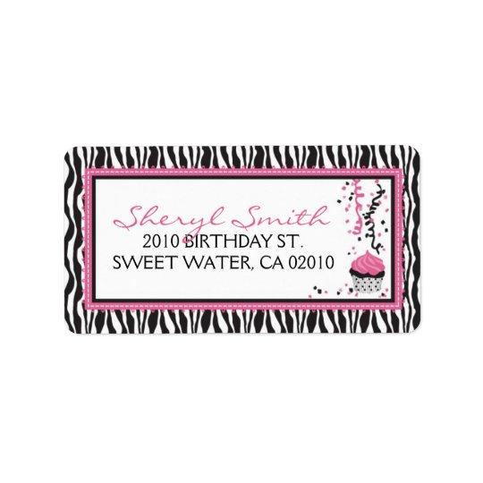 Boutique Chic Cupcake Address Label B