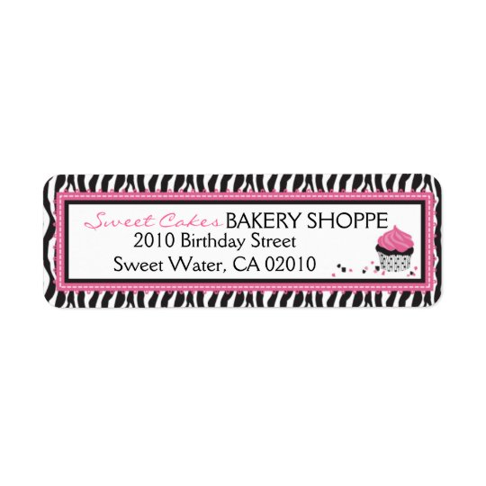 Boutique Chic Cupcakes Business Return Label