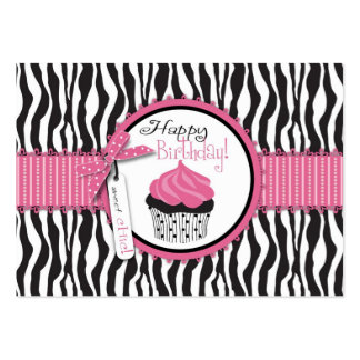 Boutique Chic Cupcakes Gift Card Large Business Card
