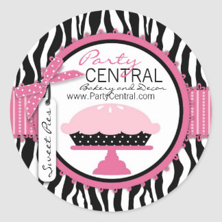 Boutique Chic Pie Business Sticker