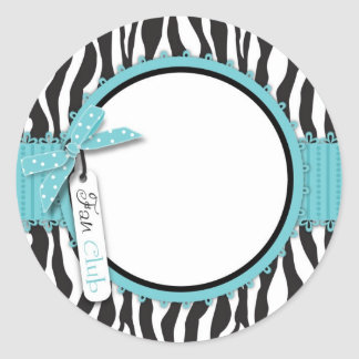 Boutique Chic Sticker Aqua