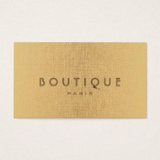 Boutique-Fashion Accessories Gold Linen Card