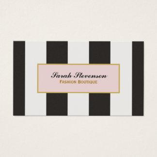 Boutique noire et blanche élégante de mode de cartes de visite