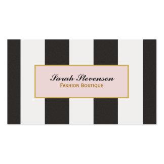 Boutique noire et blanche élégante de mode de rayu carte de visite