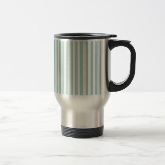 Boutique Stripes (Blue Green Aqua) - Travel Mug