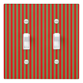 Boutique Stripes CHANGE COLOR Christmas - Light Switch Cover