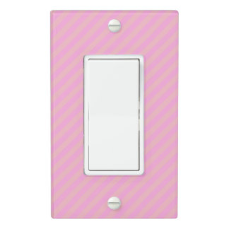 Boutique Stripes Pink CHANGE COLOR - Light Switch Cover