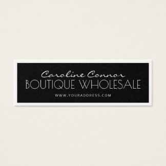 Boutique Wholesale Black & White Bordered Card