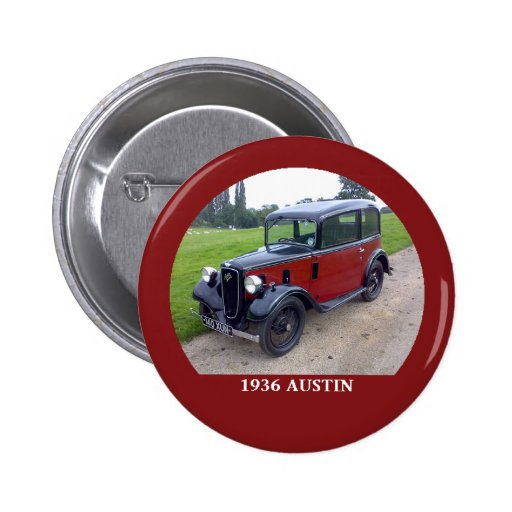Bouton 1936 de rubis d'Austin 7 Badge Avec Épingle
