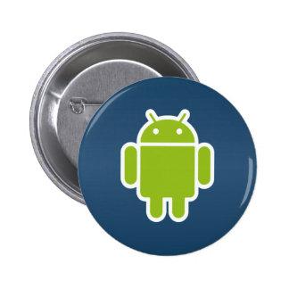Bouton androïde bleu badges avec agrafe
