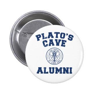 Bouton d'anciennes élèves de la caverne de Platon Macaron Rond 5 Cm
