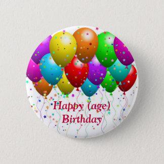 Bouton d'anniversaire pour la carte assortie - macaron rond 5 cm