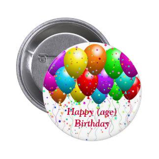 Bouton d'anniversaire pour la carte assortie - per badge