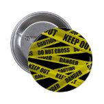 Bouton de bande de précaution badges avec agrafe