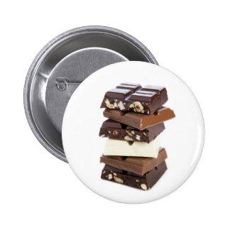 Bouton de barres de chocolat macaron rond 5 cm