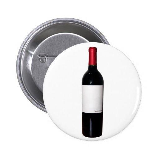 Bouton de bouteille de vin (étiquette vide) badges avec agrafe