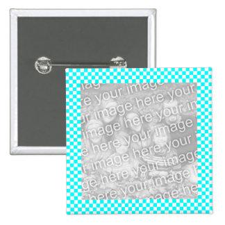 Bouton de cadre de photo de damier macaron carré 5 cm