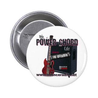 Bouton de café de corde de puissance badge